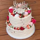 Dekorácie - Zápich na tortu Pán a Pani s menom - 10801776_