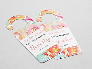 Papiernictvo - Príprava nevesty/ženícha ružovo-oranžová - 10801854_
