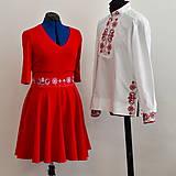 Šaty - Dámske šaty čevené - 10801546_