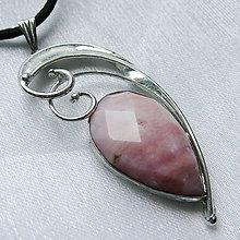 Náhrdelníky - Prívesok s ružovým opálom ☼ NOÉMIE ☼ - 10802737_
