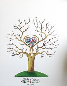 Obrazy - Wedding tree VI - svadobný strom folk - 10801712_