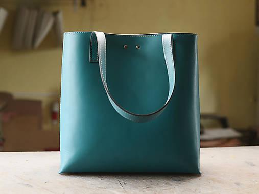 Nákupné tašky - Kožená taška Florence - 10801617_