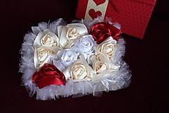 Dekorácie - Flower box krémovo-bordový - 10802467_