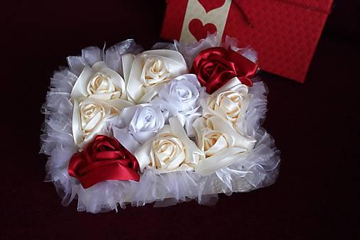 Flower box krémovo-bordový