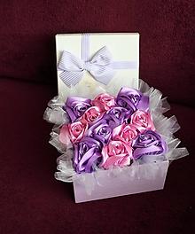 Dekorácie - Flower box ružový - 10802500_