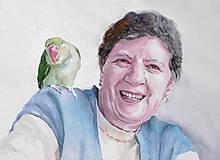 Obrazy - Akvarelový portrét - Vierka - 10802617_