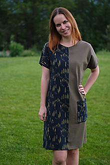 Šaty - Šaty z úpletu olivovo-lesné - 10801972_