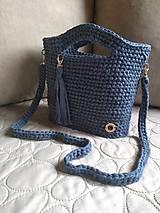 Kabelky - Háčkovaná kabelka z textilnej priadze - 10802047_