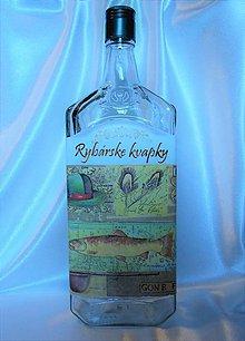 Iné - Darčeková fľaša Rybárske kvapky - 10802073_