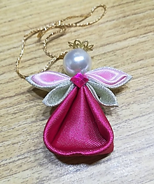 Dekorácie - Anjelíček Trpaslíček (Ružová) - 10801800_