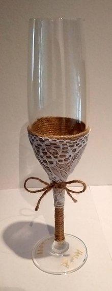 Nádoby - Jutové svadobné poháre IV - 10803071_