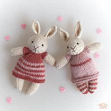 Hračky - mini-zajačiky Zoja a Zora - 10802105_