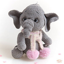 Hračky - sloníča Dominika - 10802139_