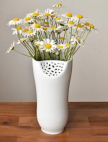 """Dekorácie - Váza """"White Flower"""" - 10802801_"""