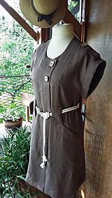 Šaty - Safari - ľanové šaty - 10801992_