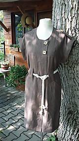 Šaty - Safari - ľanové šaty - 10801993_
