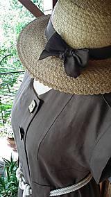Šaty - Safari - ľanové šaty - 10801994_