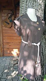 Šaty - Safari - ľanové šaty - 10801995_