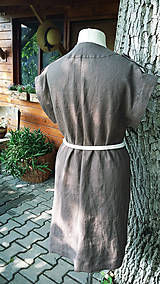 Šaty - Safari - ľanové šaty - 10801996_