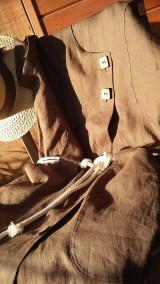 Šaty - Safari - ľanové šaty - 10802000_
