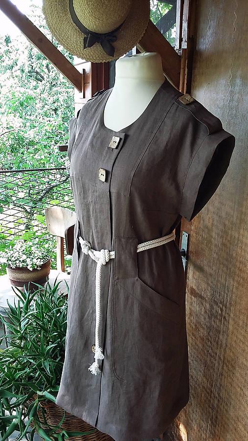 Safari - ľanové šaty