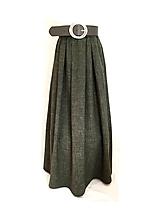 Sukne - Olivová sukňa - 10802420_