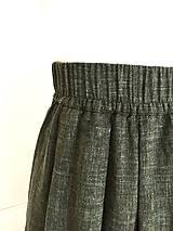 Sukne - Olivová sukňa - 10802426_