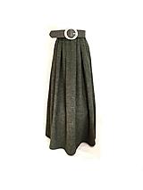 Sukne - Olivová sukňa - 10802432_