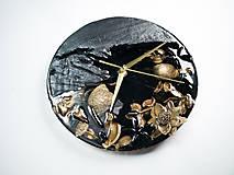 Hodiny - Luxury Garden - Živicové drevené hodiny - 10802848_