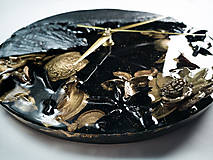 Hodiny - Luxury Garden - Živicové drevené hodiny - 10802852_