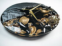 Hodiny - Luxury Garden - Živicové drevené hodiny - 10802865_