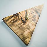 Hodiny - RAW Resin 5 - Topoľové drevené hodiny - 10803054_