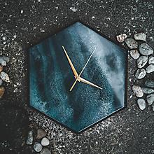 Hodiny - Živicové dekoračné hodiny - Marble - 10802969_