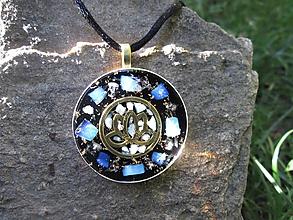 Náhrdelníky - Org. šperk ,, Lotos andělského klidu