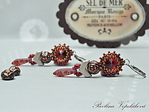 Náušnice - Visiace náušnice so Swarovski Rose Vintage III - 10802987_