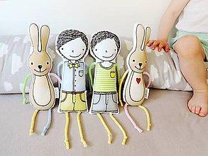 Hračky - Mojkáčik chlapček/zajačik - 10801933_
