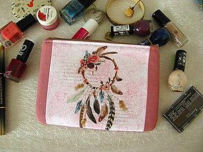 Taštičky - Taštička na mobil - Lapač na růžové - 10801941_