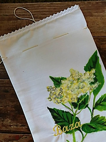 Úžitkový textil - Väčšie bylinkové vrecko BAZA - 10801967_