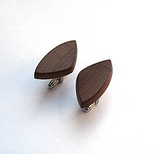 Šperky - Drevené manžetové gombíky - slivkové kúsky - 10802645_