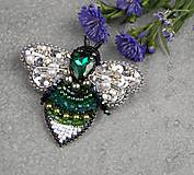 Odznaky/Brošne - Včela Green ... brož - 10803813_