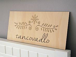 Tabuľky - Gravírované logo na dreve - 10804046_