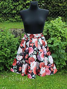 Sukne - Kvetovaná skladaná sukňa - 10805919_