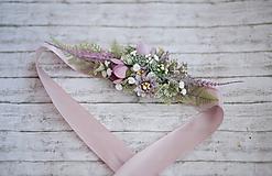 Opasky - Kvetinový  fialkový opasok LÚKA - 10805770_