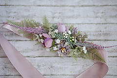 Opasky - Kvetinový  fialkový opasok LÚKA - 10805771_