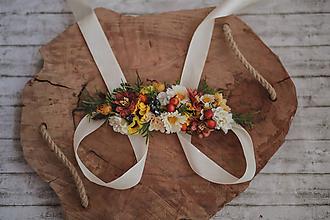 Opasky - Kvetinový  folk opasok - 10805644_