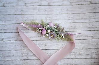 Opasky - Kvetinový  fialkový opasok LÚKA - 10805787_