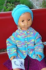 Ručne pletená súprava svetrík s čiapkou