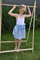 Detské oblečenie - Dievčenská sukňa Nica s mašľou - 10803488_