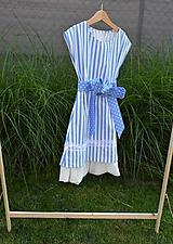 - Dievčenské letné šaty Nica s mašľou a tylom - 10803526_