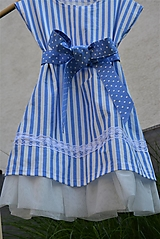 - Dievčenské letné šaty Nica s mašľou a tylom - 10803528_
